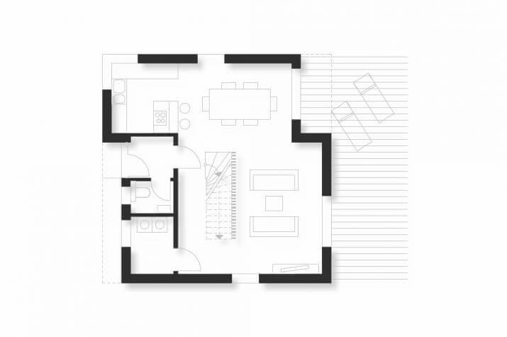 Stadtvilla | SV_01 | 121 qm | KfW55 - EG