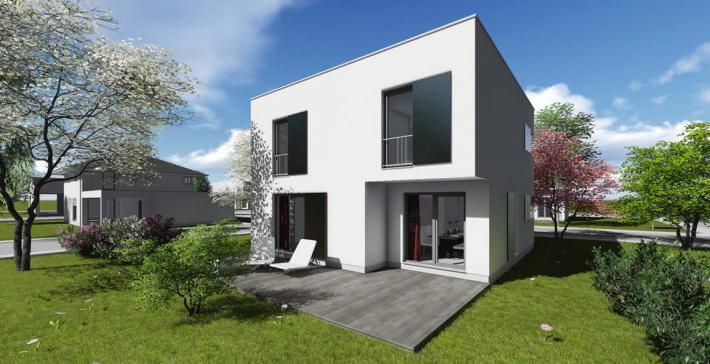 Stadtvilla   SV_01   121 qm   KfW55 - Bräuer Architekten Rostock