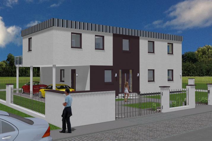 Villa Exklusiv auf Keller 194 qm Wohnfläche - Villa Exklusiv auf Keller 194 qm Ansicht Strasse links