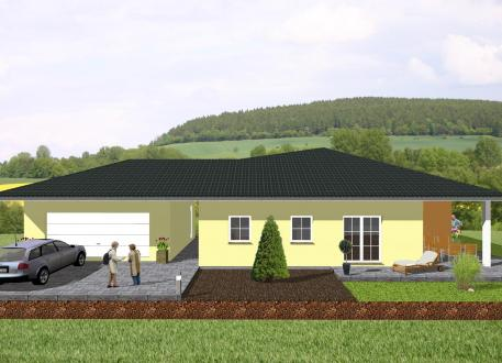 Sonstige Häuser Winkelbungalow mit angrenzender Garage - www.jk-traumhaus.de
