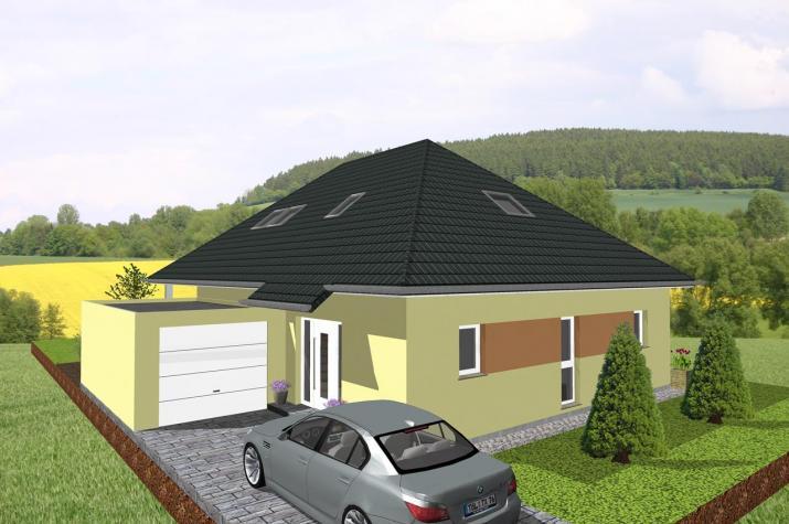 Winkelbungalow mit ausgebautem Dachgeschoss - www.jk-traumhaus.de -