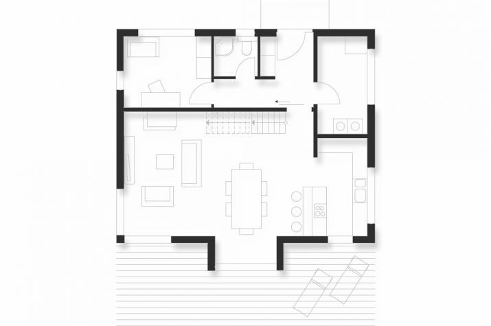 Wohnhaus   WH1   152 qm   KfW55 - EG