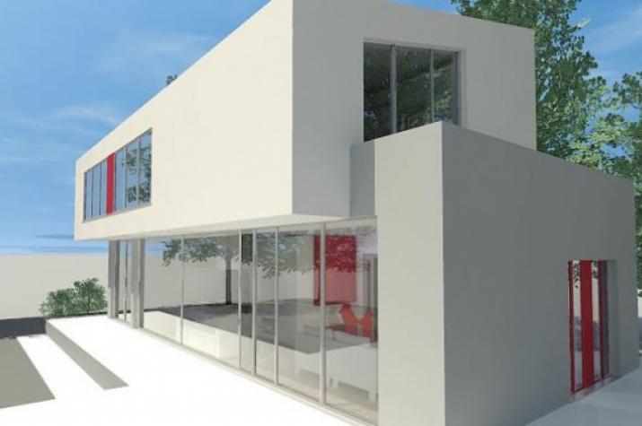 für die moderne Familie - FÜNF - Architektenhaus FÜNF Gartenperspektive