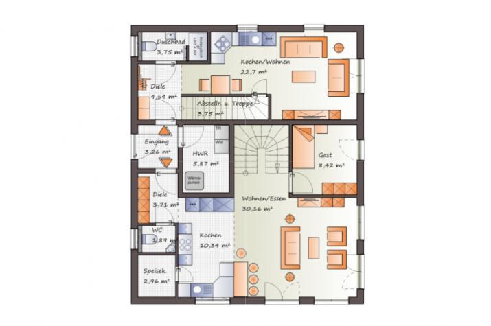 ...individuell geplant  ! - Klassisches Generationshaus - www.jk-traumhaus.de - Grundriss EG