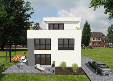 Frei planbare Häuser ...individuell geplant ! - Bauhaus mit Staffelgeschoss - www.jk-traumhaus.de