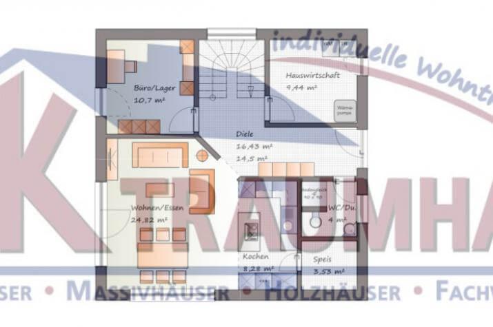 ...individuell geplant ! - Bauhaus mit Staffelgeschoss - www.jk-traumhaus.de - Grundriss EG