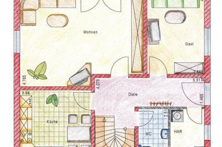 ...individuell geplant ! - Einfamilienhaus, schlichte Eleganz mit großem Platzangebot - www.jk-traumhaus.de - Grundriss EG