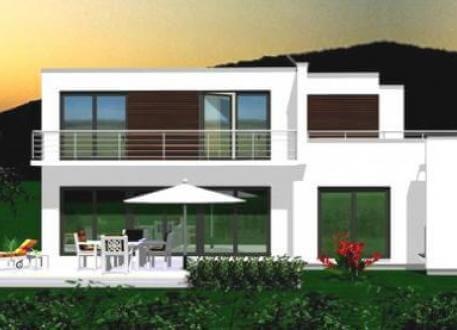 Designerhaus ...individuell geplant ! - Großzügige Villa im Bauhausstil mit integrierter Garage und Dachterrasse - www.jk-traumhaus.de