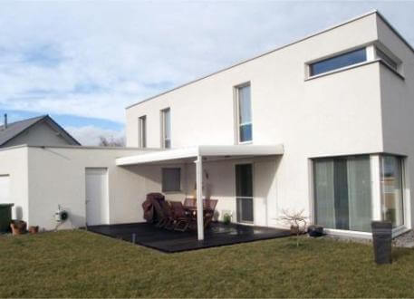 ...individuell geplant ! - Kubische Villa im Bauhausstil mit Dachterrasse und Doppelcarport - www.jk-traumhaus.de