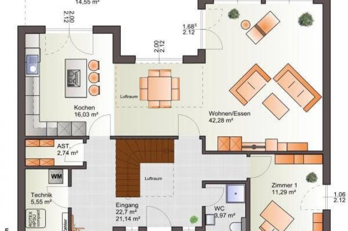 ...individuell geplant ! - Mehr draußen als drinnen - das Freiluft-Bauhaus - www.jk-traumhaus.de - Grundriss EG