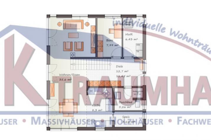 ...individuell geplant ! - Modernes Einfamilienhaus - www.jk-traumhaus.de - Grundriss EG