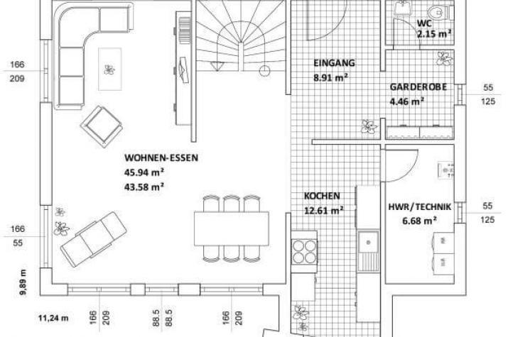 ...individuell geplant ! - Modernes Pultdachhaus mit Winkelanbau - www.jk-traumhaus.de - Grundriss EG