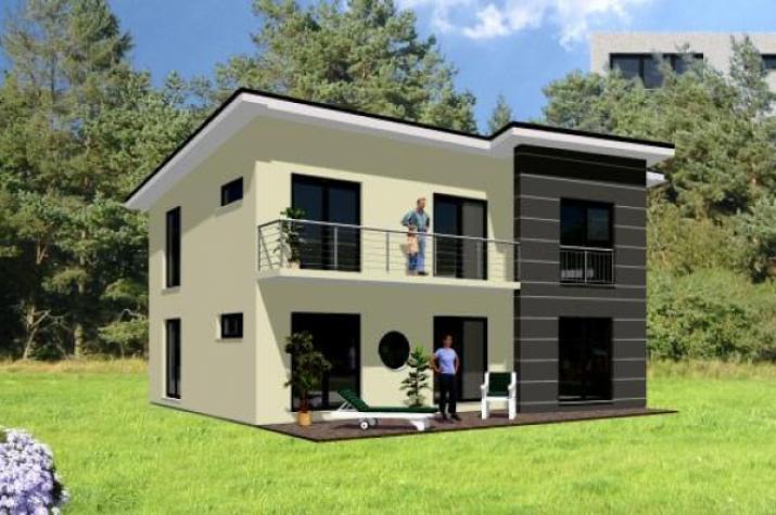 ...individuell geplant ! - Modernes Pultdachhaus mit Winkelanbau - www.jk-traumhaus.de -