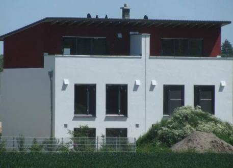 Zweifamilienhaus ...individuell geplant ! - Pultdach-Doppelhaus mit Dachterrasse - moderne Architektur mal zwei - www.jk-traumhaus.de