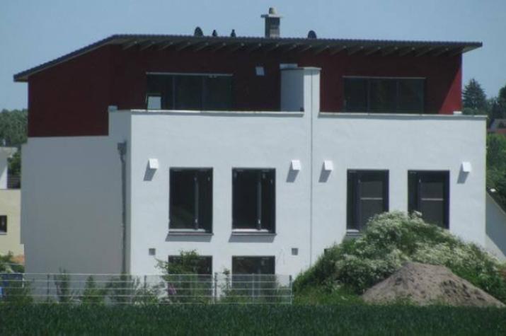 ...individuell geplant ! - Pultdach-Doppelhaus mit Dachterrasse - moderne Architektur mal zwei - www.jk-traumhaus.de -