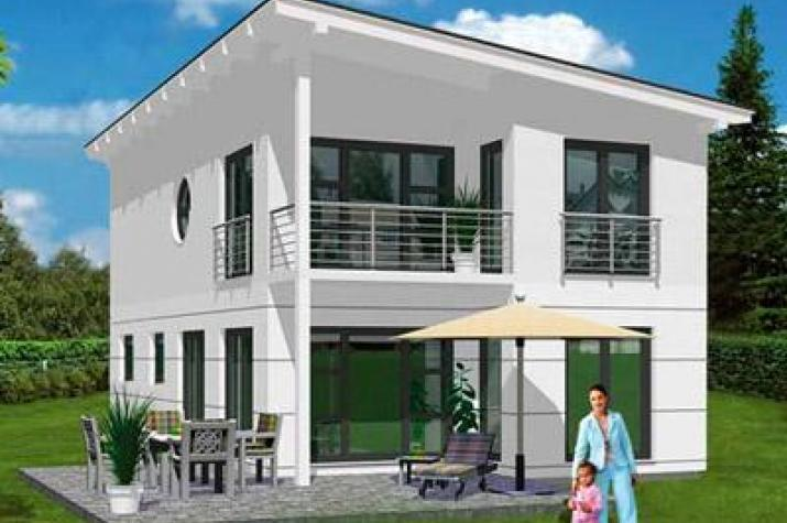 ...individuell geplant ! - Schräge Pultdachvilla mit modernem Ambiente - www.jk-traumhaus.de -