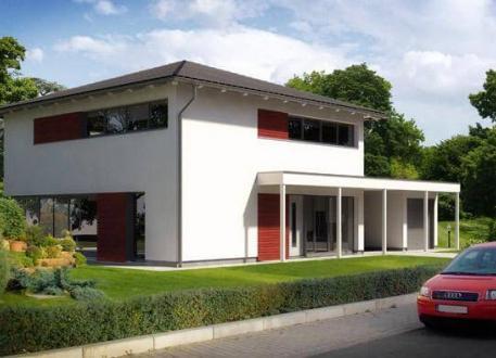 ...individuell geplant ! - Stadtvilla in moderner Architektur mit großen Fensterflächen- www.jk-traumhaus.de